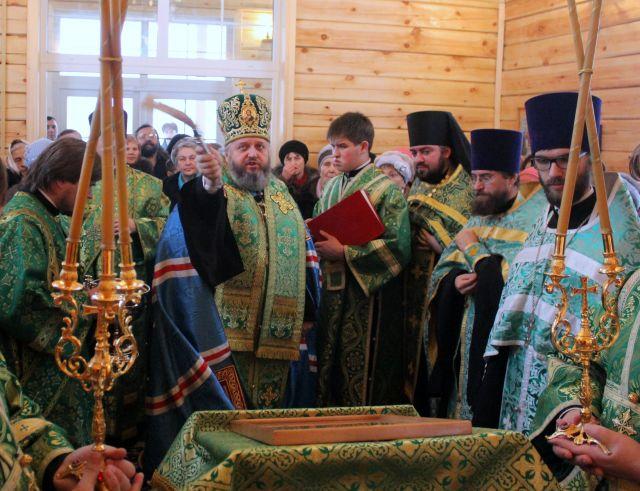 Освящение крестильного храма в честь преп. Феодора Студита